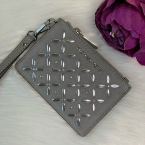 ❤️Michael Kors SM Coin Purse Card Hold Pearl Grey